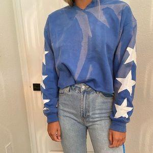 Tops - Blue sweatshirt with stars